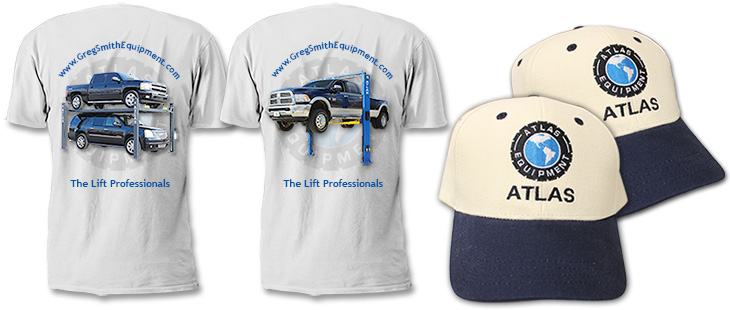Your Choice of A Free Greg Smith Equipment Atlas Shirt or 2 Free Atlas Hats
