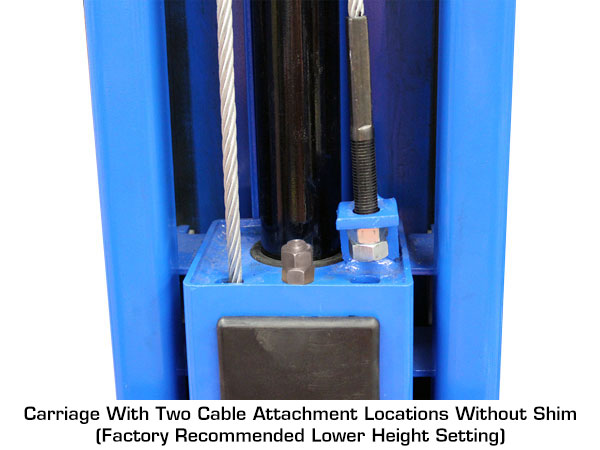 How to adjust Atlas® Overhead 2-Post Lift cables for lower