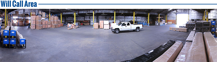 Will Call Area Warehouse